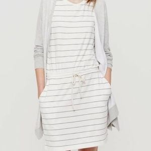 Lou & Grey Striped Muscle Tee Drawstring Dress